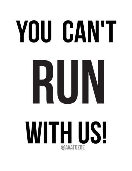 You Can't Run With Us + Free Download 2